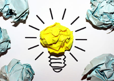 Light bulb made from paper. Available at: https://p0.piqsels.com/preview/554/478/516/achievement-aspiration-ball-brainstorming-thumbnail.jpg